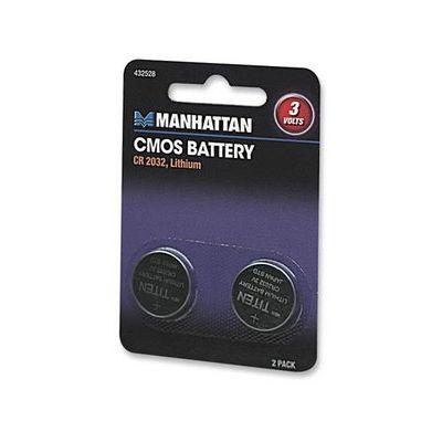 BATERIA MANHATTAN CMOS  3V 2 PIEZAS CR 2032 432528