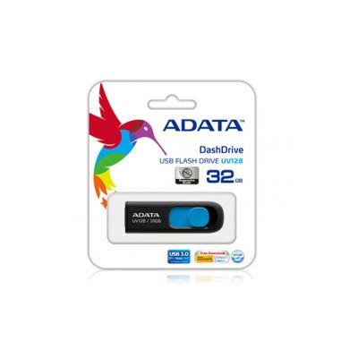 MEMORIA FLASH USB ADATA NEGRO 128 GB USB 3.0 AUV128-128G-RBE