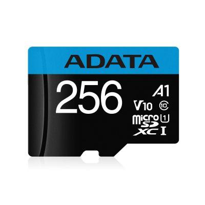 MEMORIA MICRO SD ADATA NEGRO 256GB CL10 A1 UHS-I AUSDX256GUICL10A1-RA1