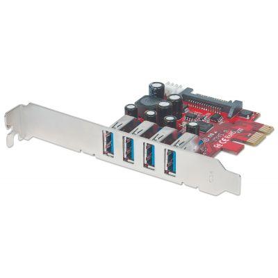 TARJETA PCIe USB 3.0 4 PUERTOS MANHATTAN 152884