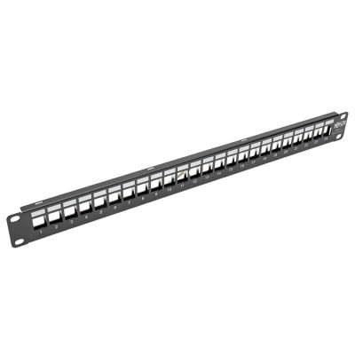 PANEL DE CONEXIONES TRIPPLITE BLINDADO 24P CAT5E/6 INST RACK RJ45 USB