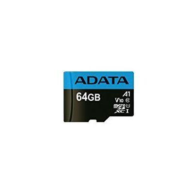 MEMORIA MICROSD ADATA AUSDX64GUICL10A1-RA1 64GB NEGRO CLASE 10