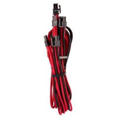 CABLE CORSAIR PCIE FUNDAS INDPSU PREM TIPO4 GEN4 ROJO/NEGRO CP-8920254