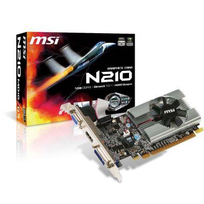 TARJETA DE VIDEO MSI NVIDIA GEFORCE GT M210 1GB DDR3 N210-MD1G/D3