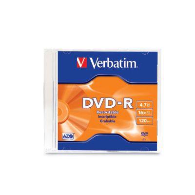 DISCO INDIVIDUAL EN CAJA VERBATIM DVDR 4.7GB 16X SIBLGE SLIM CASE