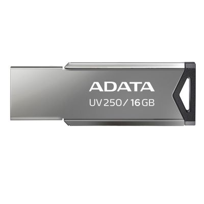 MEMORIA FLASH ADATA UV250 16GB USB 2.0 PLATA (AUV250-16G-RBK)