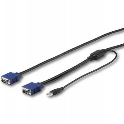 CABLE KVM STARTECH USB Y VGA 3M MONTAJE EN RACK RKCONSUV10
