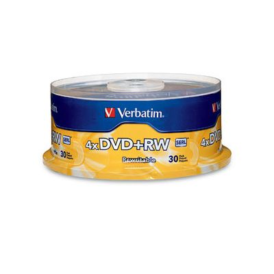PAQUETE 30 DISCOS VERBATIM DVDRW 4.7GB 4X SPINDLE VB94834