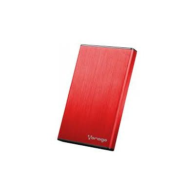 "ENCLOSURE VORAGO HDD-201 2.5"" SATA USB 3.0 ROJO"