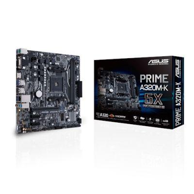 TARJETA MADRE ASUS PRIME A320M-K AMD RYZEN AM4 DDR4 HDM/VGA/DVI M.2 US