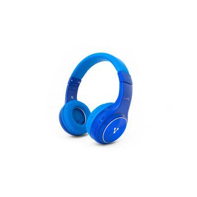 DIADEMA VORAGO HPB-300 RECARGABLE BLUETOOTH / FM / MICROSD AZUL