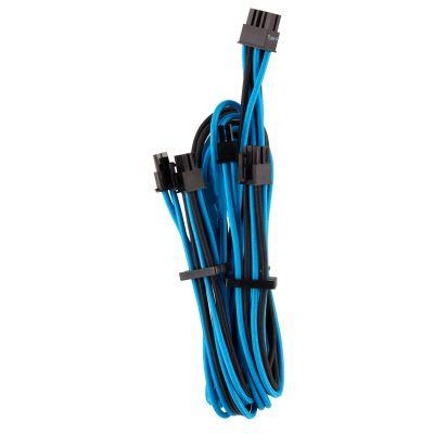 CABLE CORSAIR PCIE FUNDAS IND PSU PREM TIPO4 GEN4 AZUL/NGR CP-8920256
