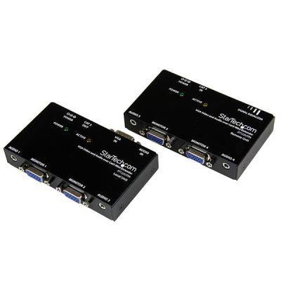 Extensor Video VGA Audio Mini  Jack Cat5 UTP   STARTECH ST122UTPA