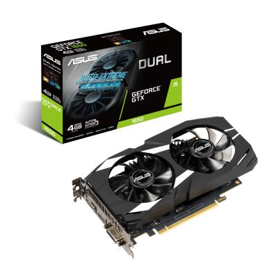 TARJETA DE VIDEO ASUS GEFORCE GTX 1650 4GB GDDR5 DUAL-GTX1650-4G