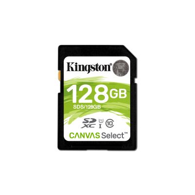 MEMORIA SD KINGSTON CANVAS SELECT 128GB SDXC UHS-I CLASE10 SDS/128GB