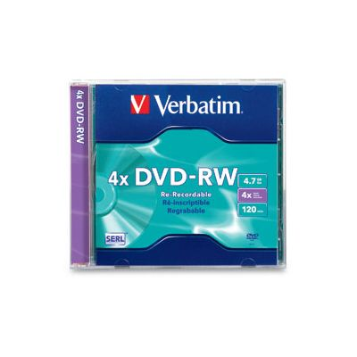 DISCO INDIVIDUAL EN CAJA VERBATIM DVDRW 4.7GB 4X SINGLE JEWEL CASE