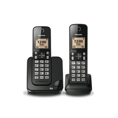 TELEFONO INALAMBRICO PANASONIC DUO PACK DECT 6.0 KX-TGC352MEB NEGRO