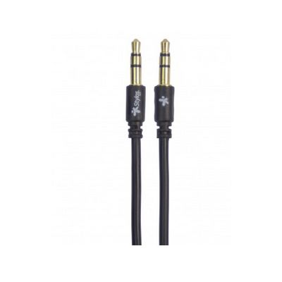 CABLE AUXILIAR STYLOS 3.5MM 1 MT NEGRO (STACB352405018)