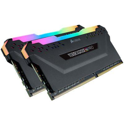 MEMORIA DDR4 CORSAIR VENGANCE RGB PRO BLACK 16GB 3200MHZ 2X8GB