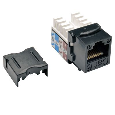 CONECTOR KEYSTONE TRIPP LITE JACK 110 PUNCHDOWN CAT6/5E NEGRO