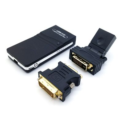CONVERTIDOR DE VIDEO BROBOTIX 171920 USB A DVI/HDMI/SVGA NEGRO