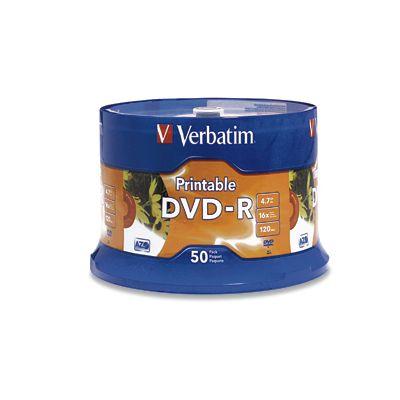 TORRE DVD VERBATIM 95137 -R 16X 120MIN 4.7GB IMPRIM BLANCO C/50