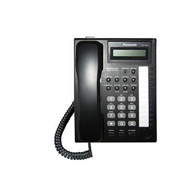 TELÉFONO PANASONIC PARA PARED, COLOR NEGRO, PANTALLA LCD