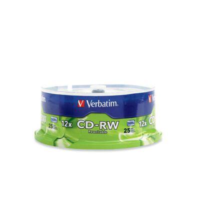CD-RW VERBATIM 12X 700MB 80MIN 25 PZAS REGRABABLE 95155