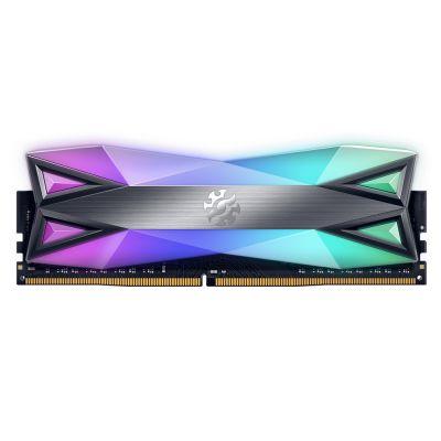 MEMORIA ADATA XPG D60 RGB 8GB TITANIO DDR4 3200Mhz AX4U320038G16A-ST60