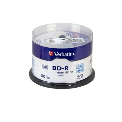 BLURAY BD-R VERBATIM CAMPANA CON 50 25GB 6X VB98172