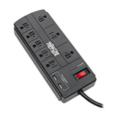 SUPRESOR DE PICOS TRIPP LITE 8 CONTACTOS 2x USB 2.44 M TLP88USBB