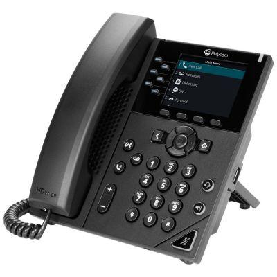 TELEFONO POLYCOM VVX 350 6 LÍEAS RJ45 POE NEGRO