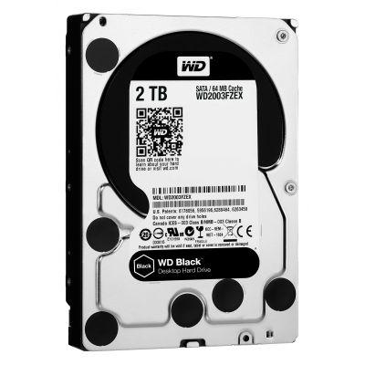 DISCO DURO INTERNO WD 2TB 3.5 WD2003FZEX 64M SATA3 7200RPM BLACK