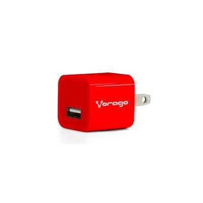 CARGADOR PARA PARED VORAGO AU-105 CON 1 PUERTO USB ROJO