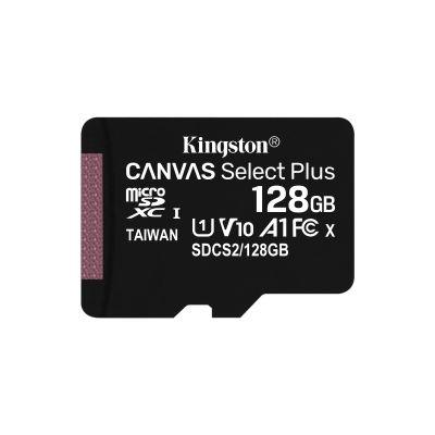 MICRO SD KINGSTON128GB MICSDXC CANVAS SELECT PLUS C10 SIN ADAPT