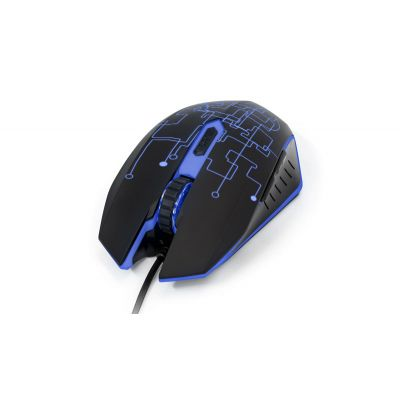 MOUSE VORAGO GAMER MO-501 OPTICO ILUMINADO 3200 DPI'S USB NEGRO