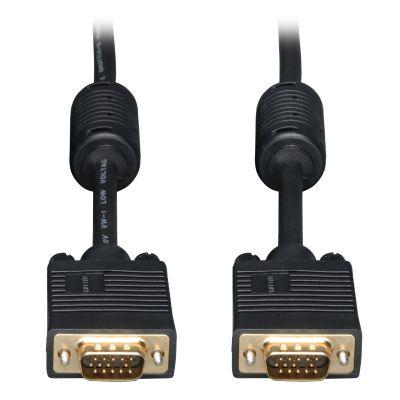 CABLE TRIPP LITE VGA COAXIAL HD15 MACHO 10.7 NEGRO P502-035