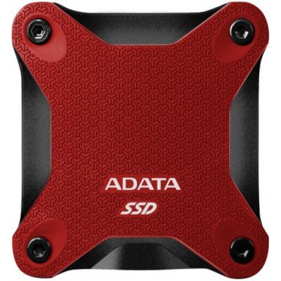 SSD EXTERNO ADATA 480GB USB 3.1 440 MB/S ROJO ASD600Q-480GU31-CRD