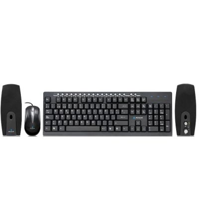 KIT ACTECK WKTM-004 TECLADO MULTIMEDIA / MOUSE / BOCINAS USB