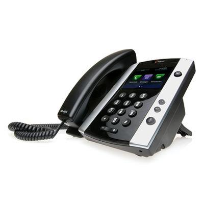TELEFONO POLYCOM VVX 501 12 LÍNEAS ETHERNET POE NEGRO