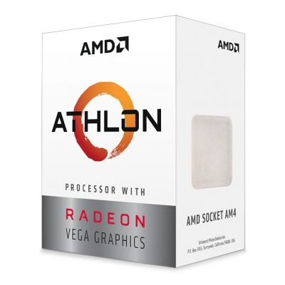 PROCESADOR AMD ATHLON 3000G DUAL CORE 3.5 GHZ AM4 VEGA 3 YD3000C6FHBOX