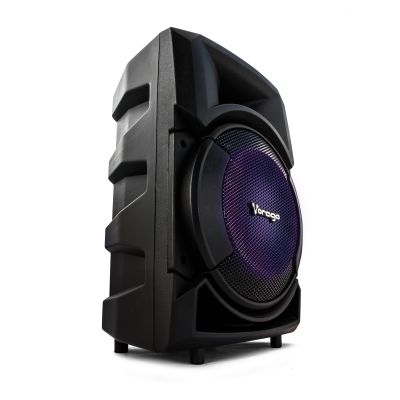 "BOCINA KARAOKE VORAGO KSP-401 12"" RECARGABLE BT/USB/AUX/SD 1MICROFONO"