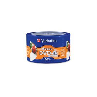 PAQUETE 50 DISCOS VERBATIM DVDR 4.7GB 120MIN 16X IMPRIMIBLE COLOR WRAP