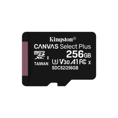 MICRO SD KINGSTON 256GB MICSDXC CANVAS SELECT PLUS C10 SIN ADAPT