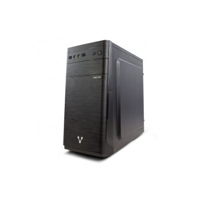 GABINETE VORAGO GAB-200 500W ATX Micro ATX Mini ITX 2xUSB 3.0 NEGRO