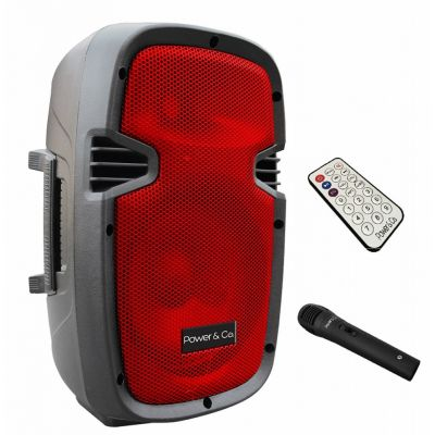 BOCINA POWER- CO XP-8000RD 3200 W ROJO