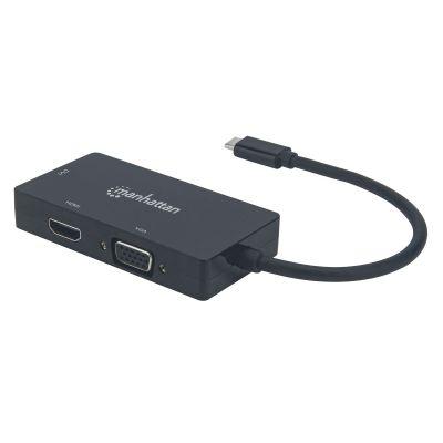 ADATADOR USB-C MANHATTAN 152983 USB C - VGA/DVI/HDMI NEGRO