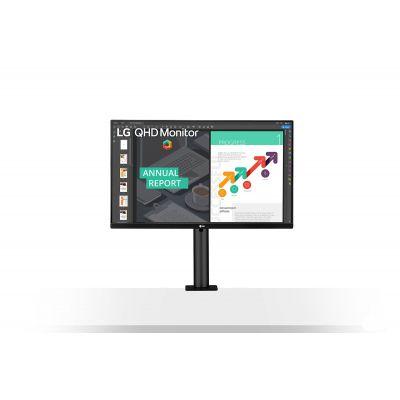 """MONITOR LG 27QN880-B LED 27"""" IPS QHD 2560X1440 ERGO HDMI USB-C 60HZ"""