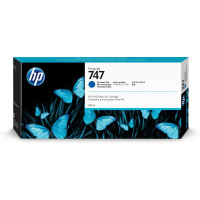 CARTUCHO HP 747 AZUL CROMO P/Z9+ 300ML P2V85A