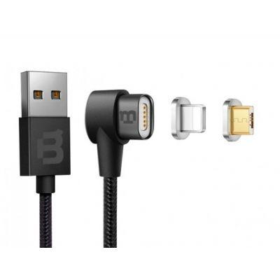 CABLE DUAL MICRO USB/LIGHTNING BLACKPCS NEGRO 1M LATERAL CABLMLPML-2
